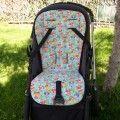 Colchoneta silla bebe con calaveras turquesa