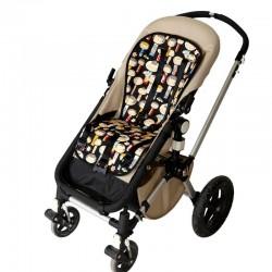 Colchoneta silla bebé japoneses negro
