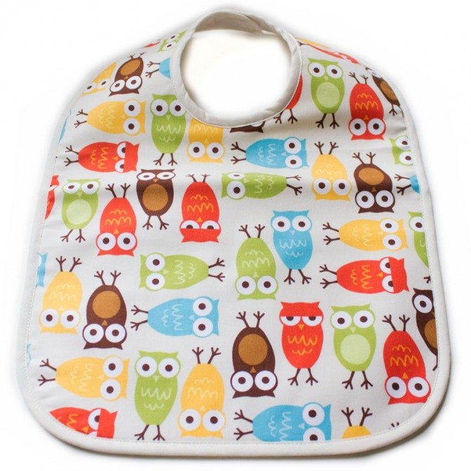 Babero bebé buhos multicolores