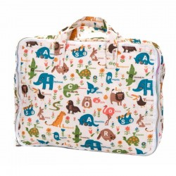 Set maleta animales crema Mybags