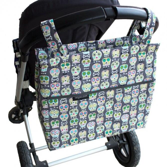 Bolso panera bebé calaveras - en stock