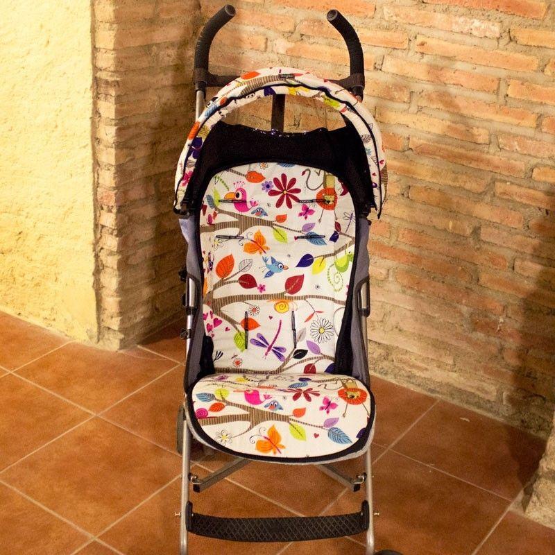 Colchoneta silla paseo estampado animalitos version universal - Colchoneta silla paseo ...