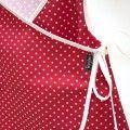 Vestido bebe kimono topos rojo