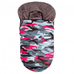 Saco silla invierno bebe Safari rosa
