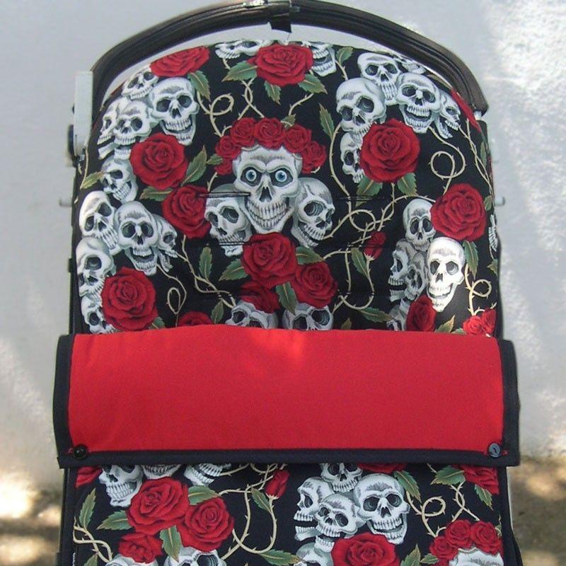 Saco para silla de paseo con calaveras y tatuajes for Sillas para tatuar