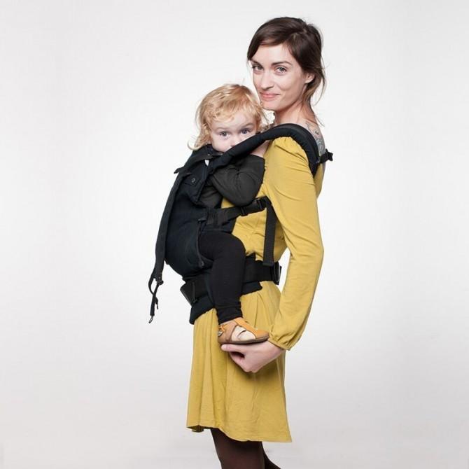Porte bébé Noir liliputi