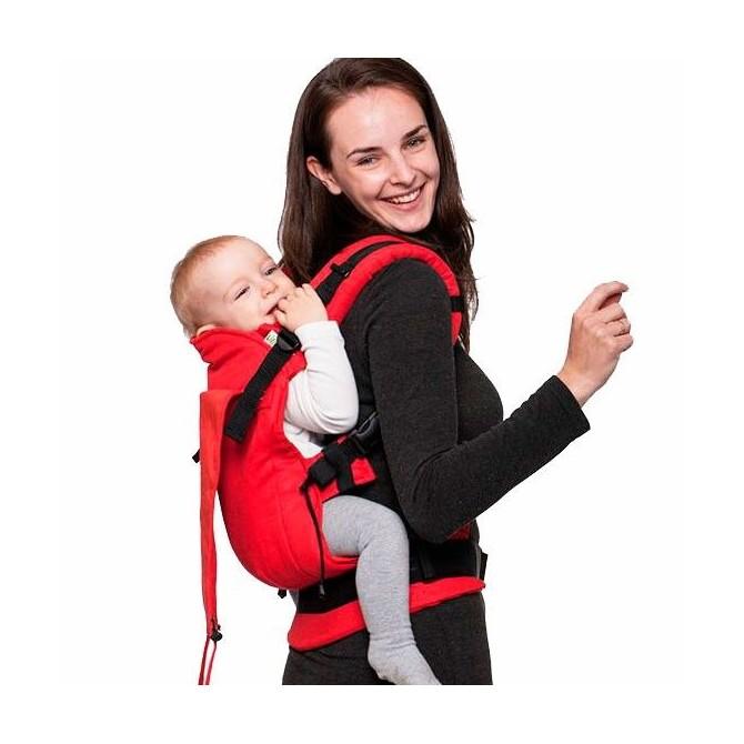 Porte bébé physiologique Rouge