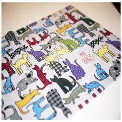 Toallita microfibra gatos gris- Mybags