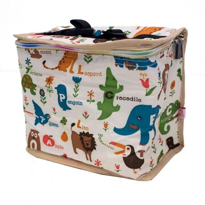 Nevera infantil portatil Animales fondo crema