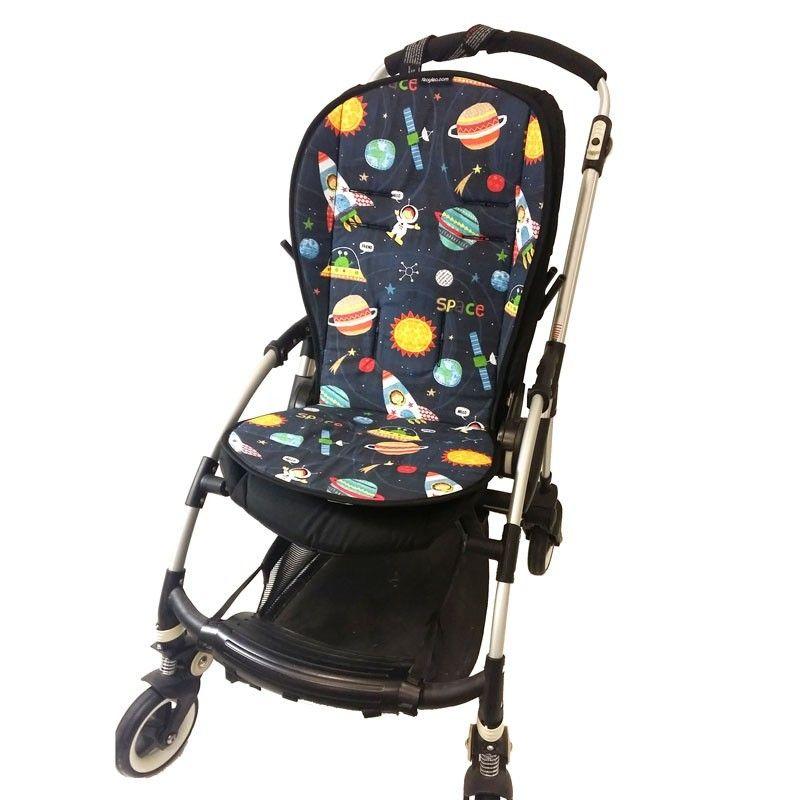 Colchoneta silla paseo universal con estampado infantil del espacio - Colchoneta silla paseo ...