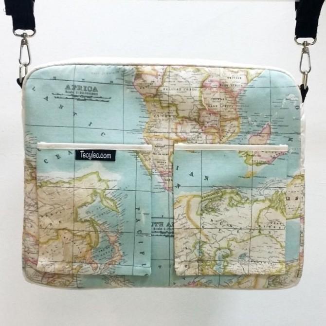 Bolso carrito bebe Mapa Mundi