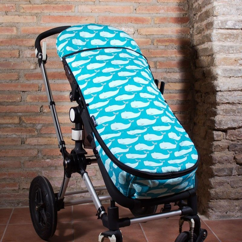 Saco carrito bebe de verano con estampado de ballenas en - Sacos silla bebe baratos ...
