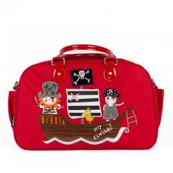 Bolso bebé Piratas rojo