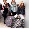 Suitcase set black owls