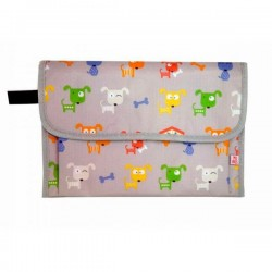 Portable baby changing mat Dogs grey by Mybags