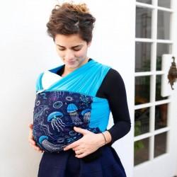 Écharpe de portage océan bleu