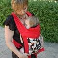 Custom your red Mei tai baby carrier