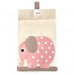 Pañalera elefante rosa