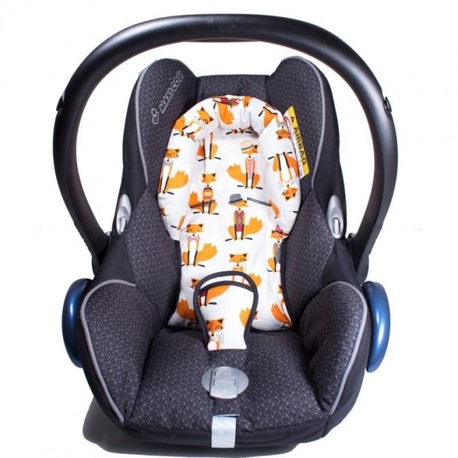 Reductor silla bebé zorros gris