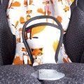 Reductor para silla bebé zorros gris