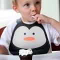 Babero de silicona Pingüino