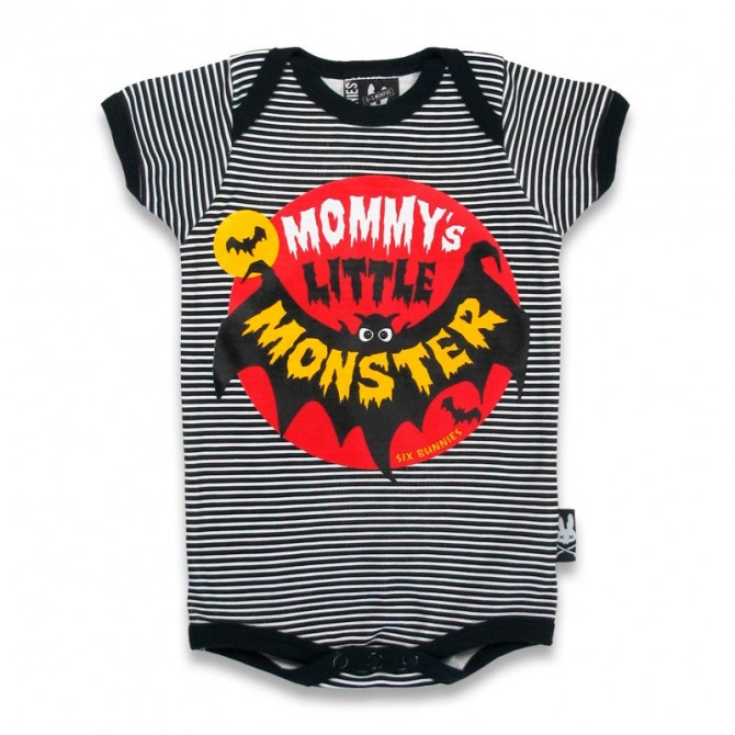 "Body bebe gracioso ""mommy´s little monster"""
