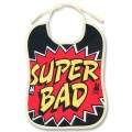 "Baby bib ""super bad"""