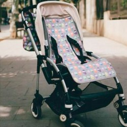 Colchoneta silla bebé Estrellas en negro
