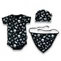 Caja regalo bebe - calaveras negro