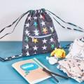 Kindergarten backpack Stars on black Mybags