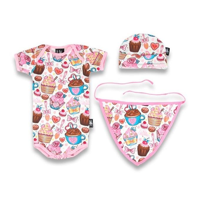 Caja regalo bebe - cupcakes