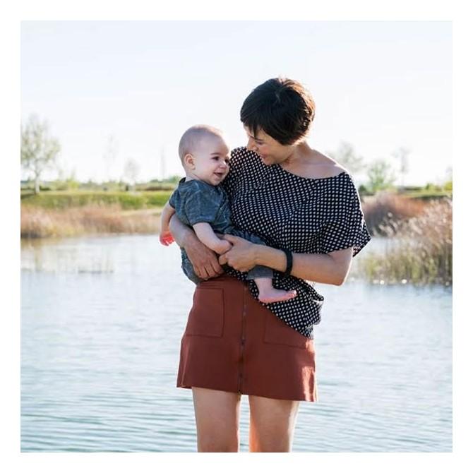 Top lactancia Pecari Negro bebé