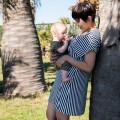 Vestido Lactancia Indri Rayas bebé