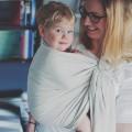 Porte bébé ring sling Herringbone beige