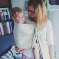 Bandolera portabebés beige Herringbone bebé