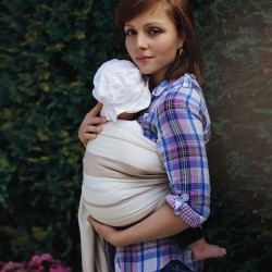 Bandolera anillas bebe beige