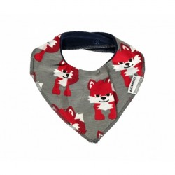 Dribble bib grey fox by Maxomorra