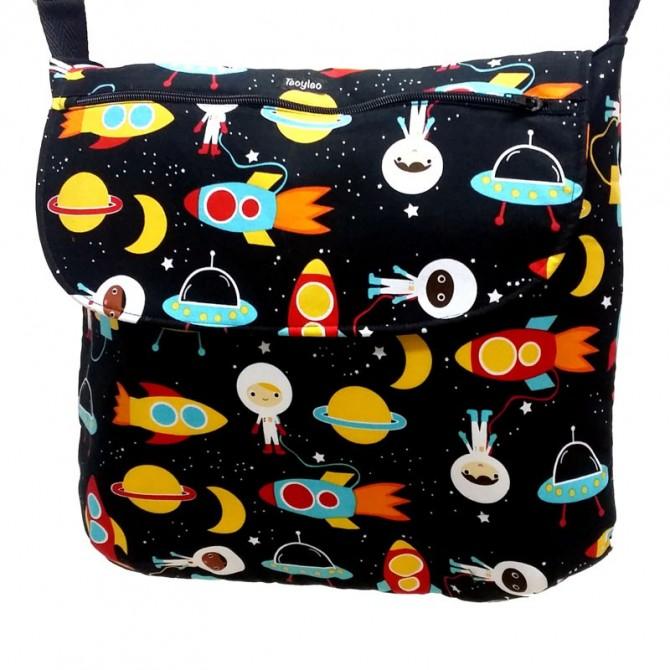 Bolso bebe con estampado de astronautas
