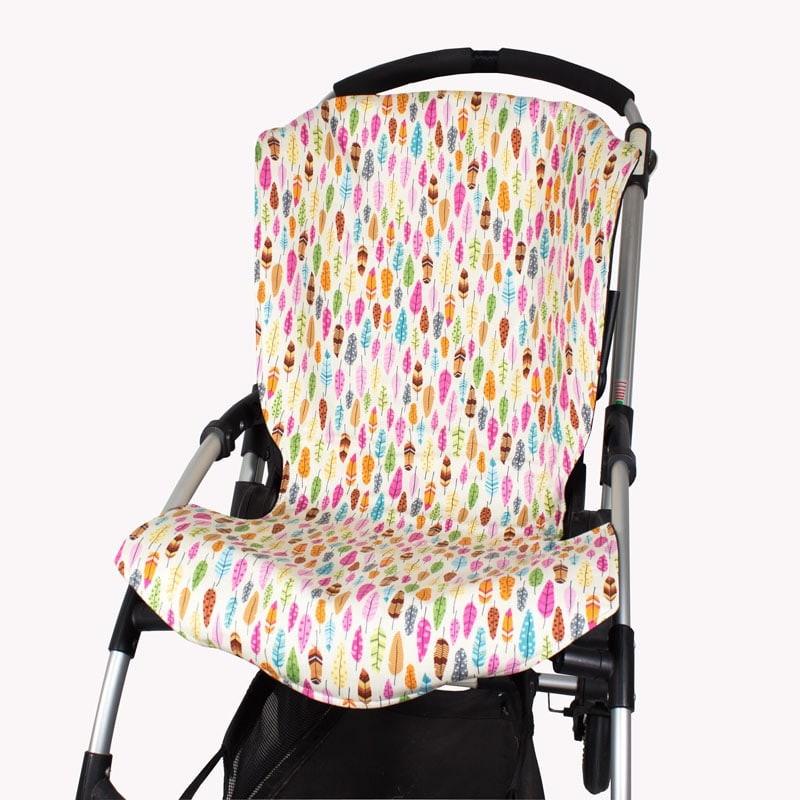 Funda para silla bugaboo bee estampado plumas colores - Fundas bugaboo originales ...