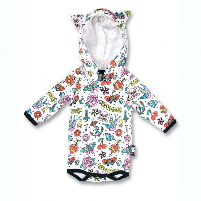 Body para bebé con capucha - cute flash