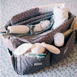 Baby Messenger diaper bag Stars on black By Mybags