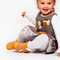 Botas de piel bebe - camel