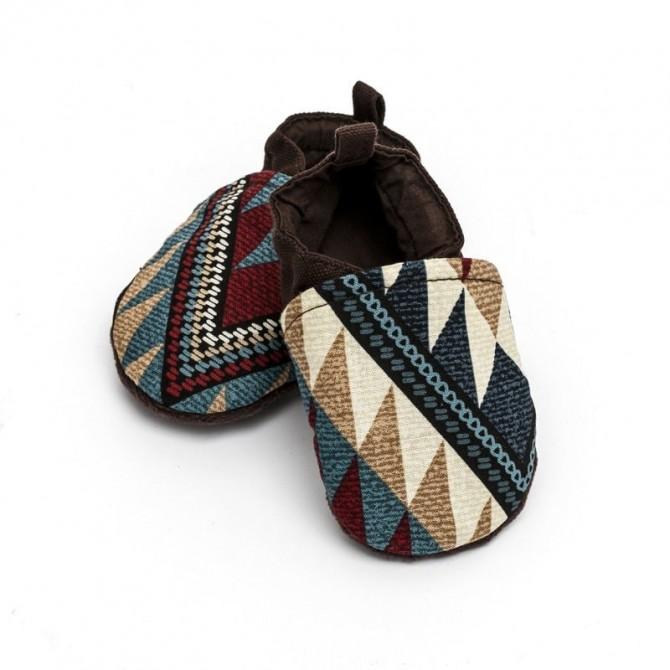 Patucos de tela para bebe - navaho
