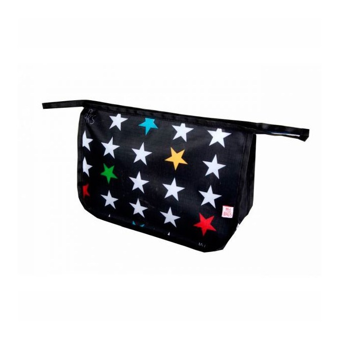 Baby vanity bag stars on black Mybags