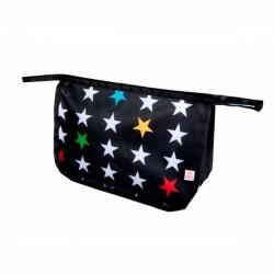 Baby vanity bag stars on black Mybags