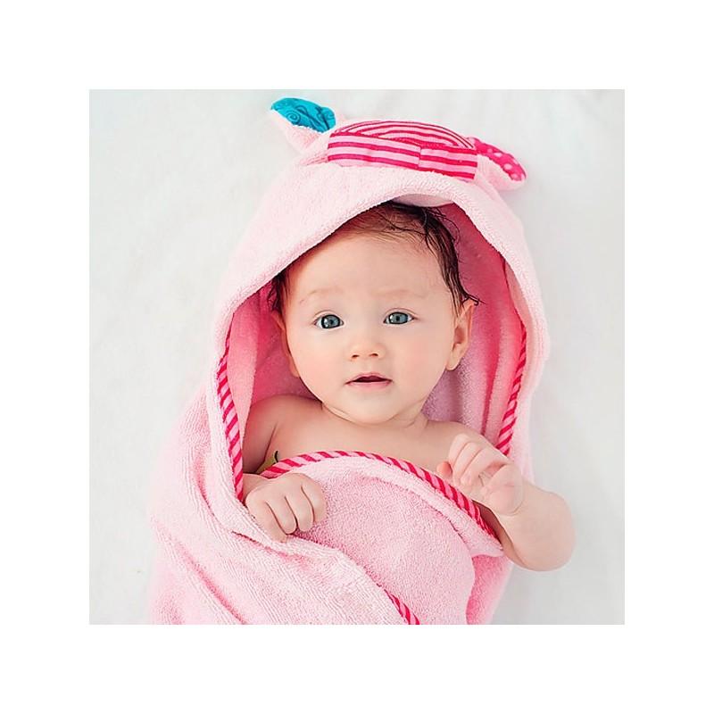 Capa de ba o para beb cerdito toalla muy suave con cara - Capa bano bebe ...