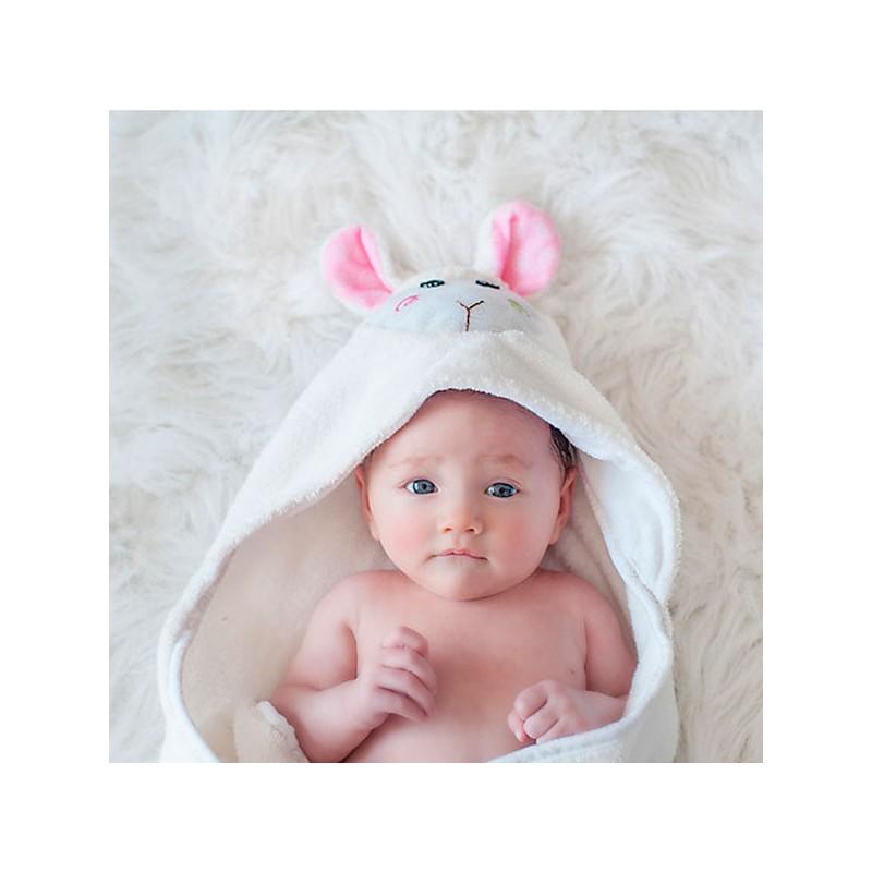 Capa de ba o para beb ovejita toalla muy suave con cara - Capa bano bebe ...