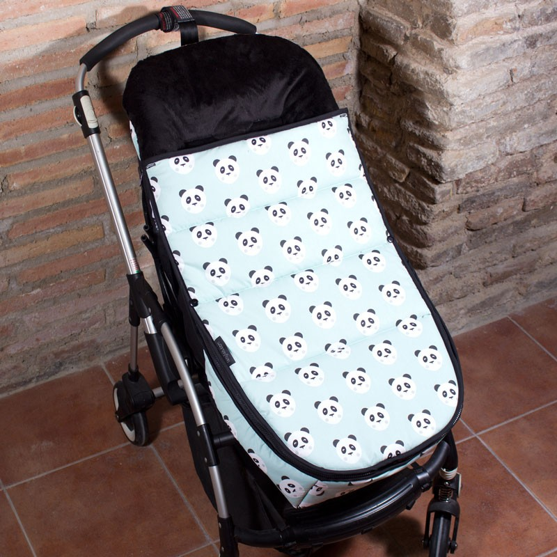 Saco de invierno para carrito bugaboo osos panda menta for Saco para silla maclaren