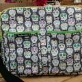 Diaper bag with grey skulls