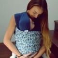 Fular elástico portabebés Mosaic Mirror con bebe